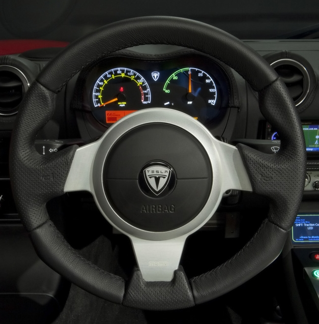 Tesla Roadster Steering