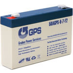 6 Volt - 7 Amp Hour Battery with F2 Terminals